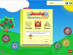 library system screenshot